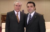 Deputado Pastor Marco Feliciano realiza encontro com o polêmico  vice-presidente Michel Temer