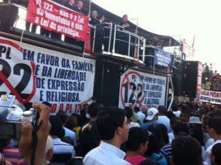 manifestacao contra plc 122 5 Saiba como foi o protesto e manifestação contra a PLC 122 organizada pelo Pastor Silas Malafaia em Brasília
