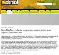 """Famoso site pró-gay chama o Pastor Silas Malafaia de """"besta profana dos evangélicos"""" e diz que é """"otário"""" quem concorda com suas opiniões"""