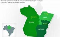 Brasil pode ganhar dois novos estados: Campanha pela divisão do Pará é patrocinada por Igrejas Evangélicas e maçonaria