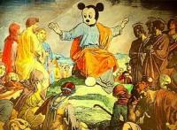 Pintura de Jesus com cabeça de Mickey Mouse, da Disney, causa polêmica