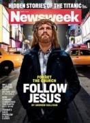 Jesus Cristo moderno estampa capa de revista com artigo polêmico sobre o cristianismo