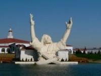 """Destruída por um relâmpago, estátua """"Touchdown Jesus"""" será reconstruída em julho"""