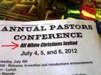 Igreja causa polêmica ao promover conferência de pastores exclusiva para brancos