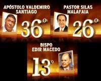 """Vídeos: Pastor Silas Malafaia e Apóstolo Valdemiro Santiago são confirmados entre os 40 primeiros do """"O Maior Brasileiro de Todos os Tempos"""" junto com Bispo Edir Macedo"""