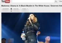 """Madonna, depois de causar polêmica chamando Obama de """"muçulmano negro"""" diz que religião não importa"""