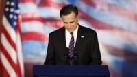 Eleição nos Estados Unidos: no discurso de derrota, Mitt Romney pede oração fervorosa pelo presidente reeleito Barack Obama