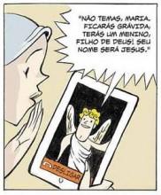 História em quadrinhos ilustra como seria nascimento de Jesus nos tempos atuais. Confira