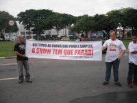 """Movimento """"Evangelho Puro e Simples"""" faz protesto durante o """"Festival Promessas"""" em São Paulo"""