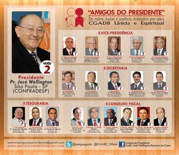 Equipe Amigos do Presidente - Mesa Diretora da CGADB