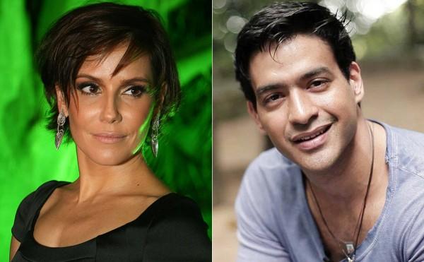 Fotomontagem com a atriz Deborah Secco e o cantor Alyson Castro