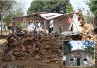 Hindus usam retroescavadeira para demolir igreja cristã na Índia