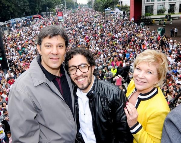 fernando haddad - jean wyllys - marta suplicy - parada gay 2013