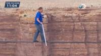 Acrobata atravessa Grand Canyon sobre um cabo de aço e testemunha sua fé em Jesus ao vivo na TV; Assista
