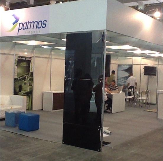 Estande da operadora de viagens Patmos