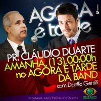 """Pastor Cláudio Duarte participa do programa """"Agora é Tarde"""", com Danilo Gentili"""