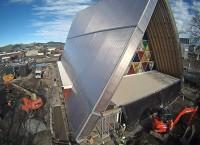 Cidade na Nova Zelândia inaugura primeira igreja no mundo feita de papelão