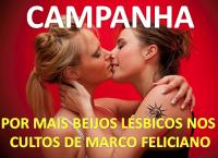 Ativistas lançam campanha nas redes sociais para incentivar beijos gay durante cultos com pastor Marco Feliciano