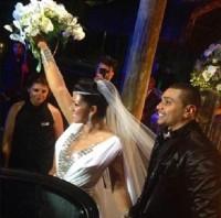 """Nas redes sociais, Mulher Moranguinho comemora casamento com Naldo Benny: """"Deus escolhe quem vai brilhar"""""""