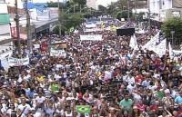 Marcha para Jesus lota ruas de Goiânia e reúne 220 mil fiéis, segundo Polícia Militar