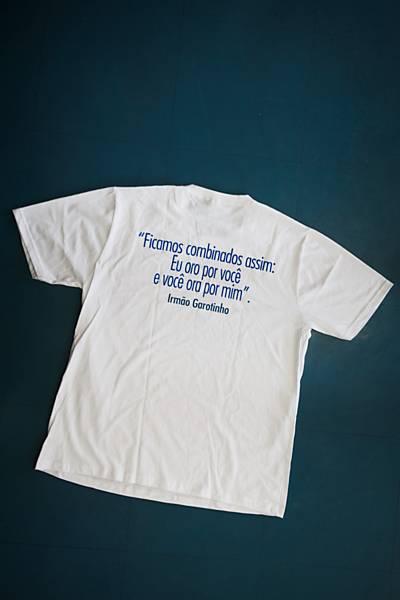 Camiseta do kit de brinde a eleitores evangélicos cadastrados