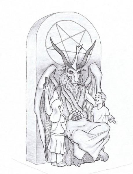 monumento satanista
