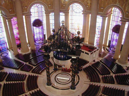 Interior da Basílica de Nossa Senhora da Paz de Yamoussoukro