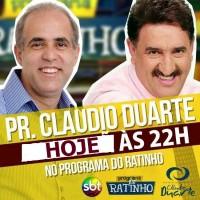 Pastor Cláudio Duarte é novamente convidado para o Programa do Ratinho