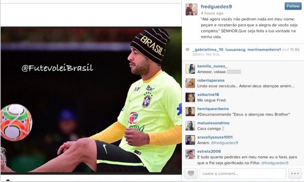 Fred, da Seleção do Brasil