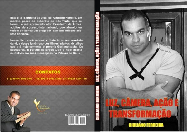 Capa e contracapa do livro de Giuliano Ferreira
