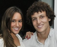 David Luiz e sua namorada, Sara