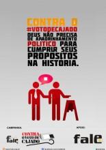 Um dos cartazes da campanha