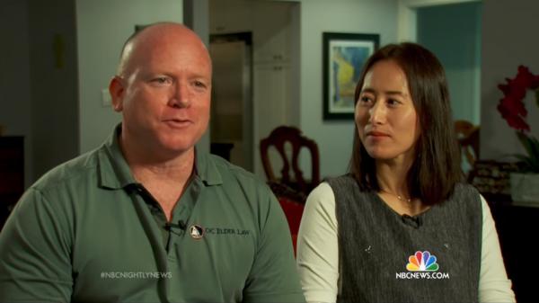 O casal Marty e Seon Burbank