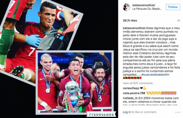 Post de Kátia Aveiro no Instagram