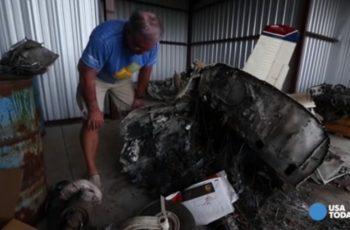 """""""Só tinha a presença de Deus"""", diz piloto que sobreviveu a explosão de avião no ar"""
