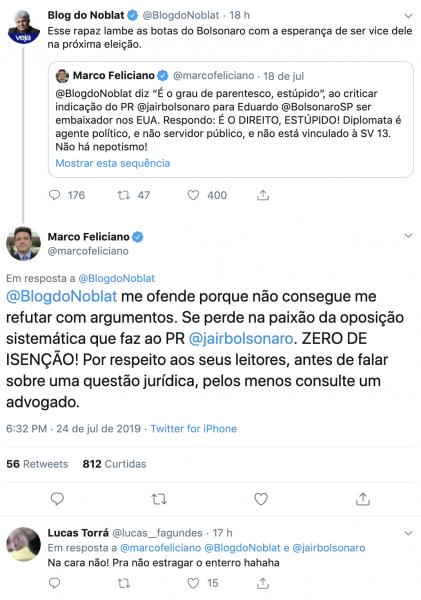 Jornalista Ricardo Noblat versus pastor Marco Feliciano