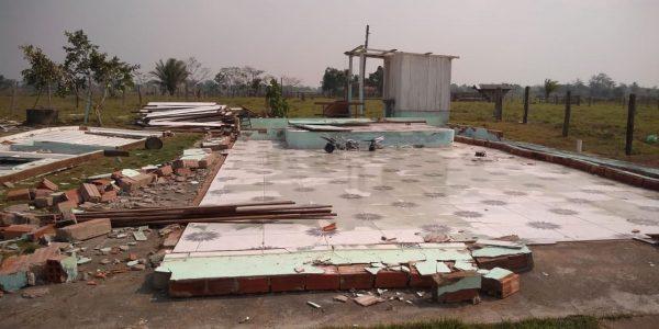 Vendaval derruba templo da Assembleia de Deus em Rondônia