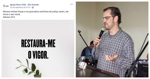 """Renova-me as forças"": pastor publica pedido de socorro horas antes de cometer suicídio"