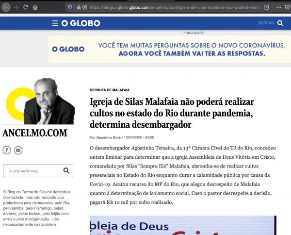 Silas Malafaia rebate ataques da Globo e aponta manobra para denegri-lo
