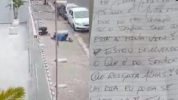 Assaltantes escrevem carta com pedido de perdão após roubarem instrumento em igreja